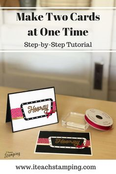 Why make one card when you can make two? Using the new Stampin Up Broadway Birthday bundle, you can rubber stamp your handmade cards using several techniques, like heat embossing, to help you make more cards. Let me show you how in this papercrafting tutorial. #stampinup #handmadecards #papercrafts Sympathy Thank You Cards, Handmade Thank You Cards, Greeting Cards Handmade, Christmas Decorations For The Home, Christmas Cards, Diy Presents, Card Making Tutorials, Stamp Making, Card Making Inspiration
