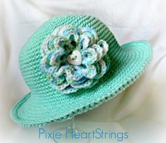 Pixie's Chemo Sun Hat... Free pattern! absolutely love the color