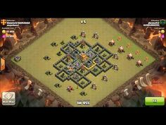 Clash of Clans TH7 vs TH7 Giant & Archer Clan War 3 Star Attack ⋆ Clash of Clans 3 Stars Clan Wars