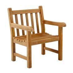 """Garden Armchair: SG25     Cushion: CUS30                                   W  D  H  SH AH Weight 27"""" 20"""" 34"""" 16"""" 25""""    40 lbs.      Kingsley-Bate: Elegant Outdoor Furniture"""