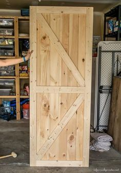 making-a-barn-door More #WoodworkingIdeas