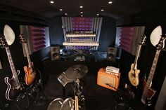 A recording studio is a must :) However, I would make a few changes to this one. For one...it wouldn't be black :)