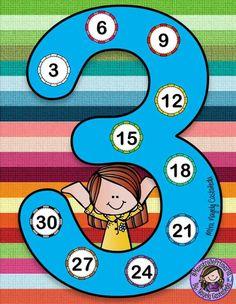 Tafel van 3 Learning Multiplication, Teaching Math, Maths, After School Child Care, Math Board Games, 2nd Grade Math Worksheets, Math Blocks, Cycle 2, Math Projects