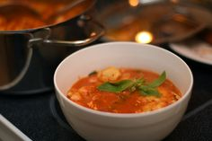 February 4th, Soup: Creamy Sausage-Tomato Tortellini Soup.