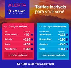 ALERTA LATAM: Voe a partir de R$ 79! Bora viajar? :: Jacytan Melo Passagens