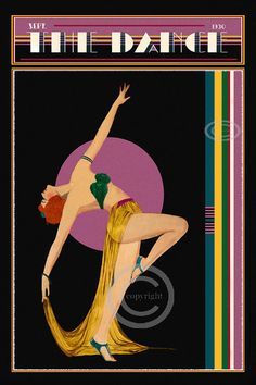Whimsical Art Deco Dance Cover The Dance by DragonflyMeadowsArt