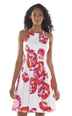 ELLE™ Lemon Striped Flounce-Hem Dress - Women&-39-s - Style for Her ...