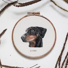 """Emillie Ferris Embroidery """"paints with thread"""" to create custom embroidered pet portraits."""