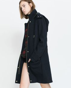 ZARA - TRF - WOOL PARKA WITH ZIP