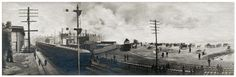 A. B. Atwood. View from a Train Station, Chelsea Fire, Chelsea, MA, 1908. Gelatin Silver Print Panorama from a collection of 39 snapshots and 13 panoramas documenting the fire.