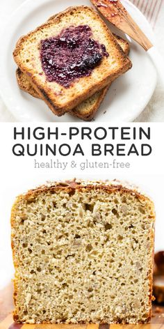 This high protein quinoa bread recipe is the best gluten free bread you'll ever taste! Loaded with protein, whole-grain flours and makes perfect sandwiches! Healthy Bread Recipes, Baking Recipes, Vegan Recipes, Healthy Breads, Free Recipes, Pain Au Quinoa, Best Gluten Free Bread, Gluten Free Whole Grain Bread Recipe, Gluten Free Homemade Bread