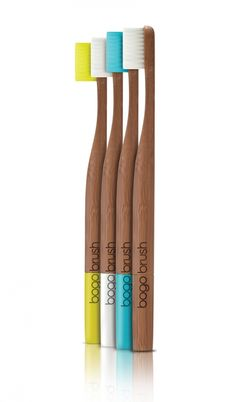 Biodegradable Bamboo Toothbrush Environmental Project: 1. Biodegradable material is used. 2. Doesn't have to be shipped around in order to create it because it only has one element. 3. Uses renewable resources in order to not create the waste that normal toothbrushes do.