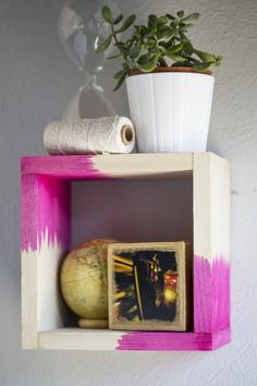 DIY Dip Dyed Wood Shelf - DIY Craft Projects, Supplies, Subscription Box   Whimseybox