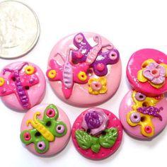 Handmade button sewing button butterfly от LittleHappyBoom на Etsy