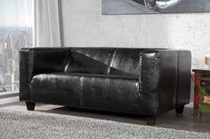 Design 2-Sitzer Sofa LIFESTYLE schwarz