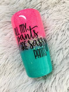 Pink and teal Ombre Glitter Tumbler / Glitter Tumbler / Ombre Glitter Tumbler / Personalized Tumbler /Custom Yeti / Sassy Pants tumbler - Pink and teal Ombre Glitter Tumbler / Glitter Tumbler / Ombre image 3 - Vinyl Tumblers, Custom Tumblers, Personalized Tumblers, Glitter Cups, Glitter Tumblers, Glitter Party, Thermos, Tumblr Cup, Custom Yeti