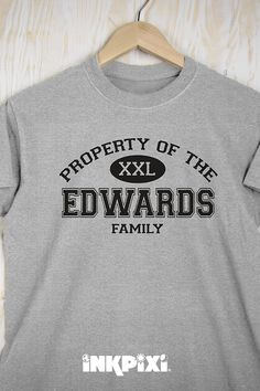 d721614b0 Display your family name on a personalized Property Of Family T-shirt.  #inkpixi