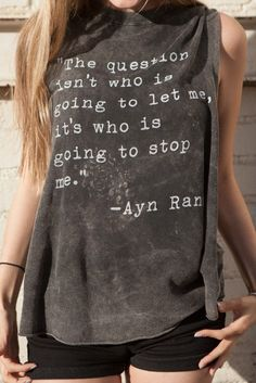 Brandy ♥ Melville | Denija Ayn Rand Tank - Graphics