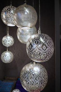 pierced metal chandeliers