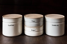 Enamel Canisters by Ancient Industries