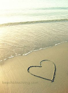 Heart drawing in the sand...