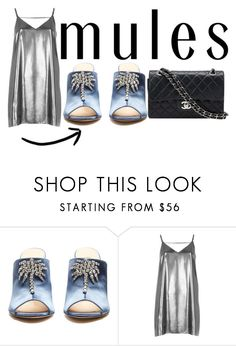 """""""Mules"""" by lululafitte ❤ liked on Polyvore featuring Attico, River Island and Chanel"""