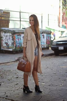 @melaneeshale in the Double or Nothing Convertible Trench Coat in Blush || Get the trench: http://www.nastygal.com/product/double-or-nothing-convertible-trench-coat?utm_source=pinterest&utm_medium=smm&utm_term=ngdib&utm_content=nasty_gals_do_it_better&utm_campaign=pinterest_nastygal