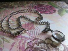 Beveled glass locket necklace on oxidized by BloomingVioletStudio, $32.00