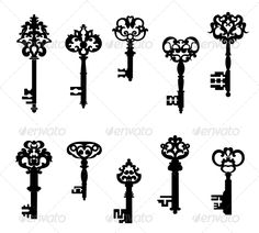 Antique Keys Set  #GraphicRiver         Antique keys set in retro style isolated on white background. Editable EPS8 and JPEG (can edit in any vector and graphic editor) files are included                     Created: 28 November 13                    Graphics Files Included:   JPG Image #Vector EPS                   Layered:   No                   Minimum Adobe CS Version:   CS             Tags      antique #background #black #close #design #door #house #icon #isolated #key #lock #metal #old…