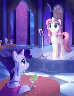 Rarity went to Sweety Bell's first concert, and was the loudest one cheering! Sooo cute