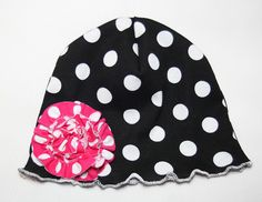 PDF/Downloadable Sewing Patterns by Whimsy Couture: Knit/Fleece Beanie Hats Sewing Pattern