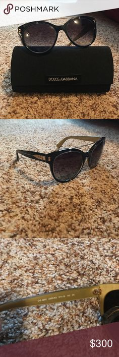Dolce & Gabbana Sunglasses New. Worn probably 2 or 3 times. In PERFECT condition. Black and gold. Not really looking to sell unless I get around the same value I paid for them. Thank you! Dolce & Gabbana Accessories Sunglasses