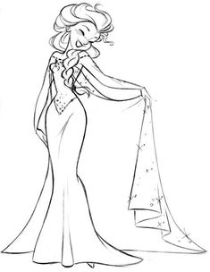 Steve's Elsa sketch from #Frozen. Are you following his Facebook page? https://www.facebook.com/artofstevethompson