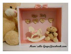 Shadow box birth data. Καδράκι με στοιχεία γέννησης Christening Decorations, Shadow Box, Babies, Frame, Handmade, Home Decor, Picture Frame, Babys, Hand Made
