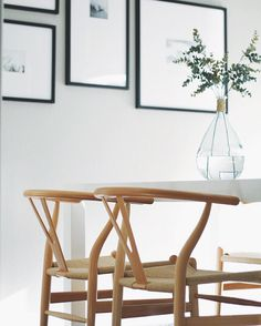 Ikea Table And Wishbone Chairs  For The Home  Pinterest  Home Endearing Ikea Living Dining Room Decorating Design