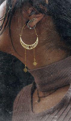 MOON MOTHER | hoop earrings | Ana Karuso