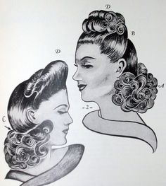 1940s Glamorous Pinup Hairstyes 40s Hair WWII Homefront Swing Dance Wartime | eBay