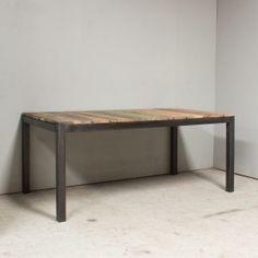 Table industrielle 180cm extensible - ED352 - Pièce unique n°04 ED352.04 Mobilier industriel RUE DE SIAM