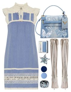 """Untitled #1913"" by sunnydays4everkh ❤ liked on Polyvore featuring Sea, New York, Valentino, Zimmermann, Alexis Bittar, Clinique and Burberry"