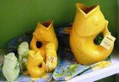 Fish pitchers and salt and pepper shakers add some fun to your table for the summer!