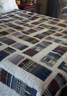 Visit Quilting Board for Free Quilt Patterns, Templates and How-to-Quilt Tutorials. Join our Quilting Forum to view Pictures of Quilts and meet fellow quilters. Flannel Quilts, Plaid Quilt, Boy Quilts, Scrappy Quilts, Shirt Quilts, Blue Jean Quilts, History Of Quilting, Scrap Quilt Patterns, Keepsake Quilting