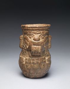 Storm God Vessel Date: 200–700 Geography: Mexico Culture: Teotihuacan Medium: Stone