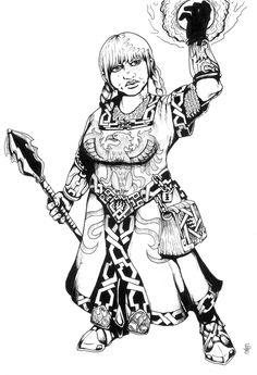 Dwarf Priestess by Spacegryphon.deviantart.com on @deviantART