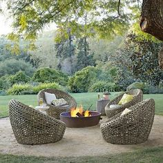 Fire pit seating