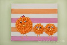 sweet and lovely crafts: tissue Easter chicks
