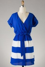 Afternoon in Nantucket Dress- Royal Blue