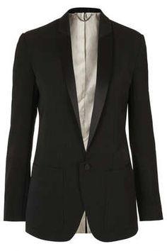 Modern Tailoring Polkadot Tux Jacket - Jackets & Coats  - Clothing