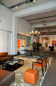 Sotheby's lounge furnished by Fendi Casa May 2014 New York