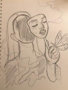 Art Drawings Sketches Simple, Cool Drawings, Indie Drawings, Arte Sketchbook, Indie Art, Mini Canvas Art, Art Reference Poses, Aesthetic Art, Cute Art