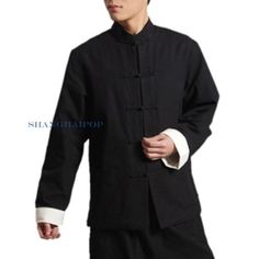 Men kung fu jacket shirt #chinese martial arts tai chi frog button #cotton #vinta,  View more on the LINK: http://www.zeppy.io/product/gb/2/351272612300/